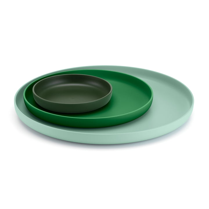 Vitra - Trays, vert (lot de 3)