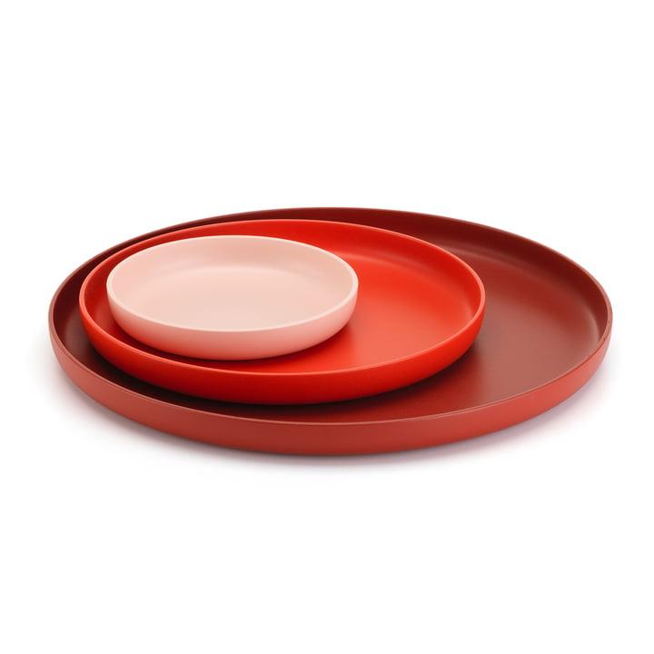 Les Trays de Vitra, rouge (lot de 3)