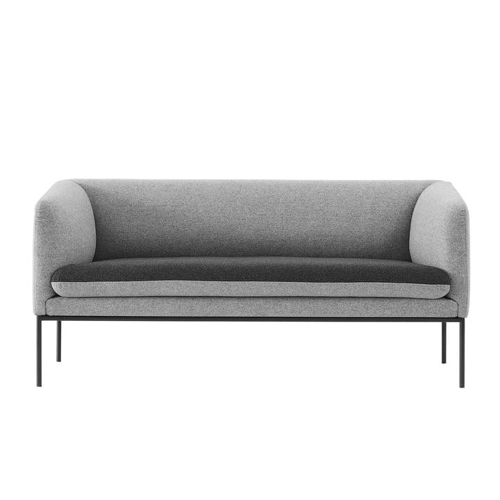 ferm Living - Canapé Turn (2 places), gris foncé / gris clair