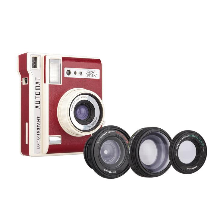 Caméra instantanée Lomo'Instant Automat + objectifs de Lomography en South Beach