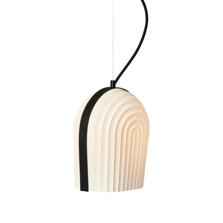 Suspension lumineuse ARC par Le Klint en chêne noir / abat-jour blanc