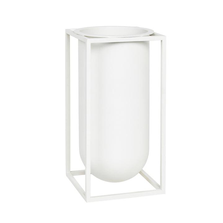 Vase Kubus Lolo par by Lassen en blanc