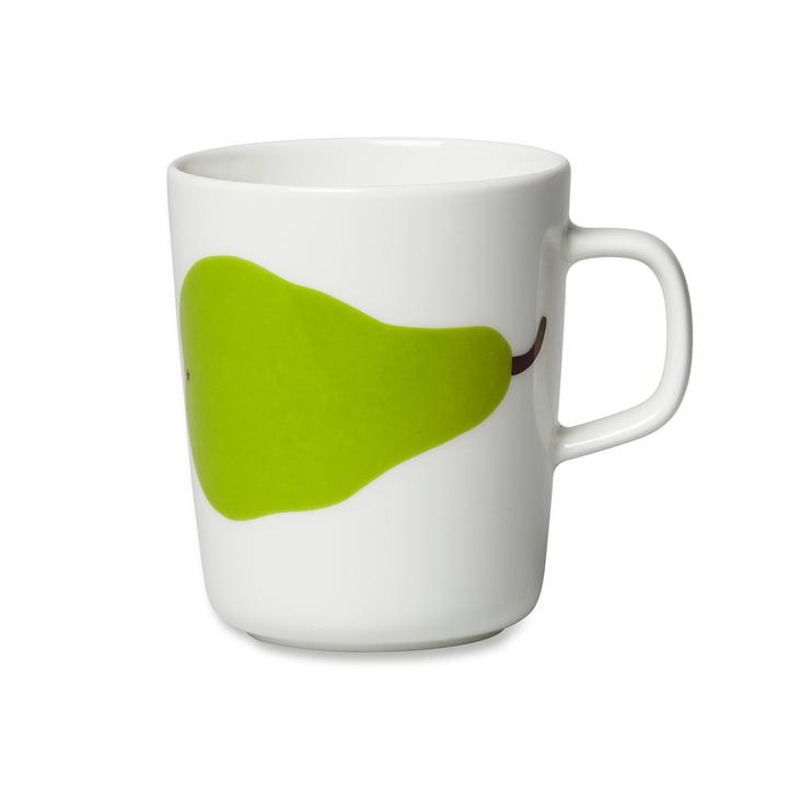 Mug à anse Oiva Päärynä, 250ml de Marimekko en blanc / vert
