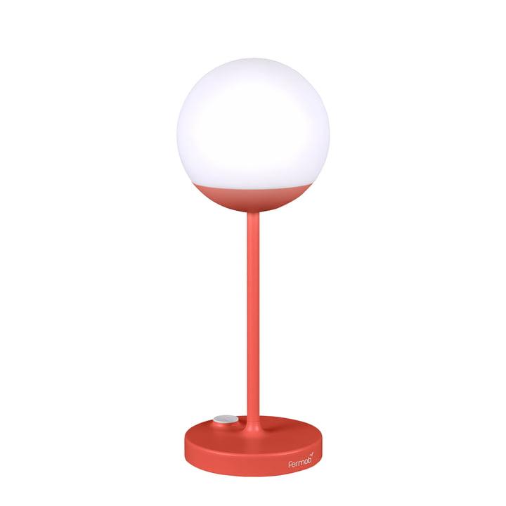 Luminaire LED à batterie Mooon! H40cm par Fermob en capucine