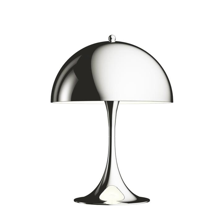 La Louis Poulsen - Panthella Mini lampe de table Ø 25 cm, chromée polie