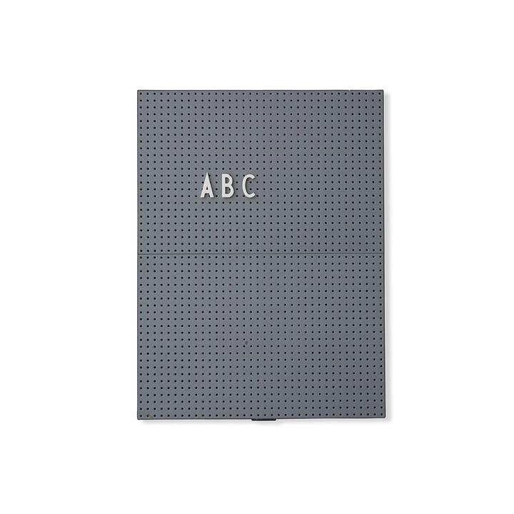 Le Message Board A4 de Design Letters, gris foncé