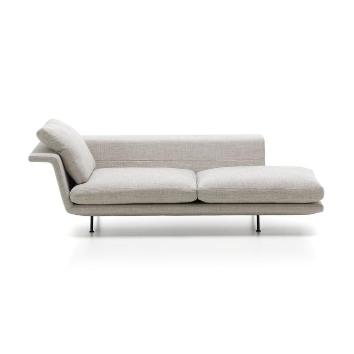 Grand Sofà de Vitra en Chaise longue sans surpiqûre en beige