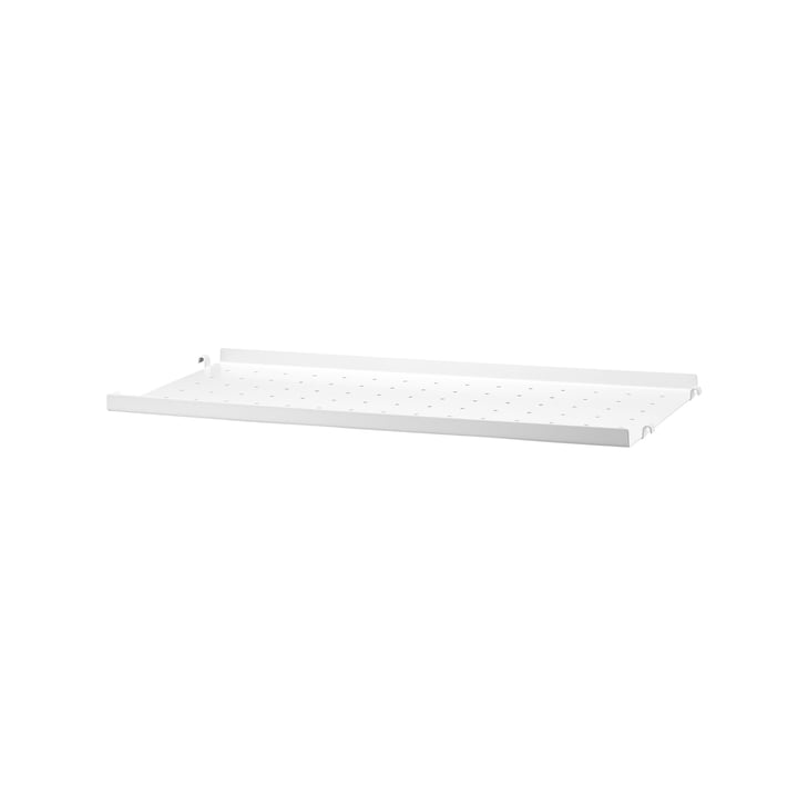 sol en métal avec bord bas 58 x 20 cm de String en blanc