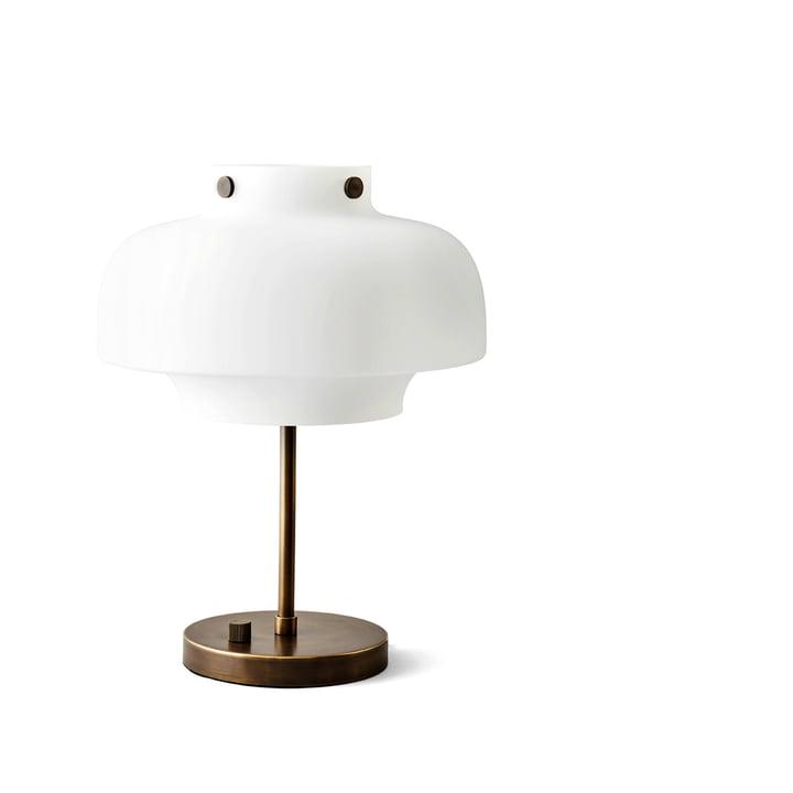 Copenhagen SC13 lampe de table de & Tradition en verre opale / laiton bruni