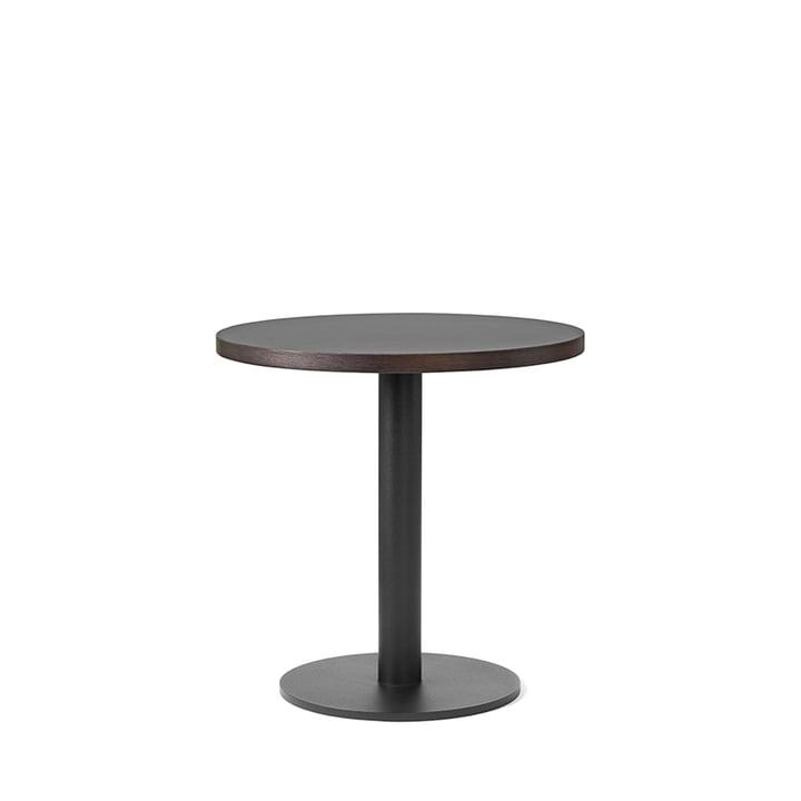 Table de bistrot Nærvær Ø42xH42cm de &Tradition en noir / chêne fumé et huilé
