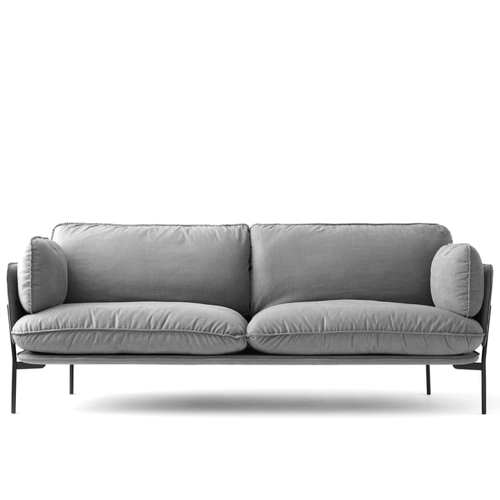Cloud Sofa LN 3. 2 from & Tradition avec base en Warm Black / Hot Madison 724