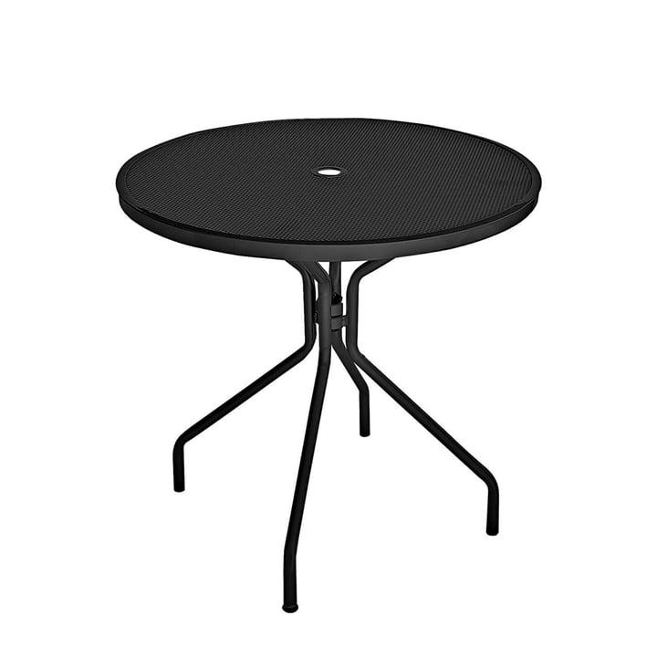 Table cambi Ø 80 cm de l'émeu en noir