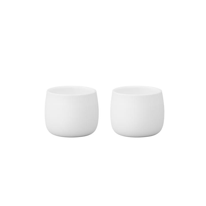 Gobelets isothermes Foster Espresso 4cl par Stelton en blanc (lot de 2)