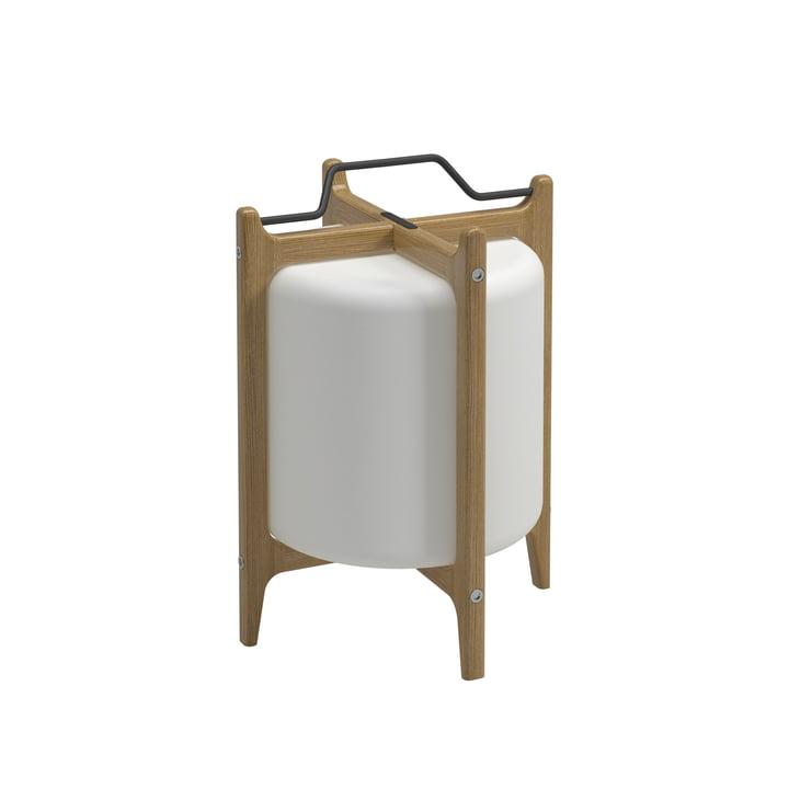 Gloster - Lampe à batterie Ambient Lanterne, teck / blanc