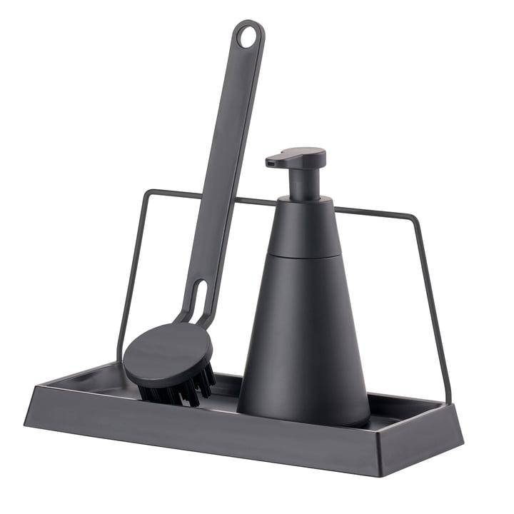 Le set d'accessoires pour laver la vaisselle Dry Art (3pièces) de Zone Denmark, noir