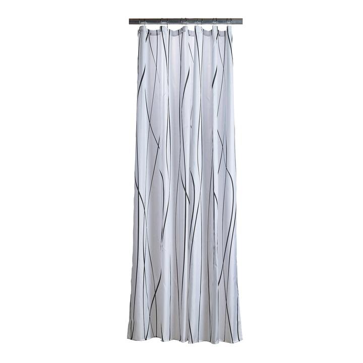 Le rideau de douche Flow de Zone Denmark en anthracite / blanc
