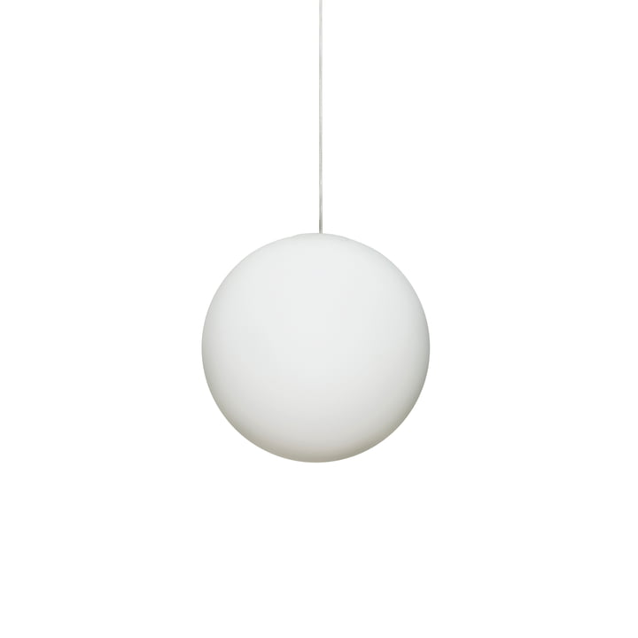 La lampe à suspension Luna Ø 16 cm de Design House Stockholm en blanc