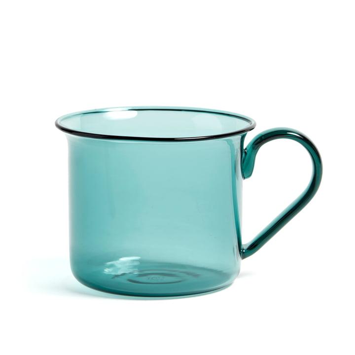 Tasse en verre borosilicate Ø8xH6,5cm par Hay en aqua