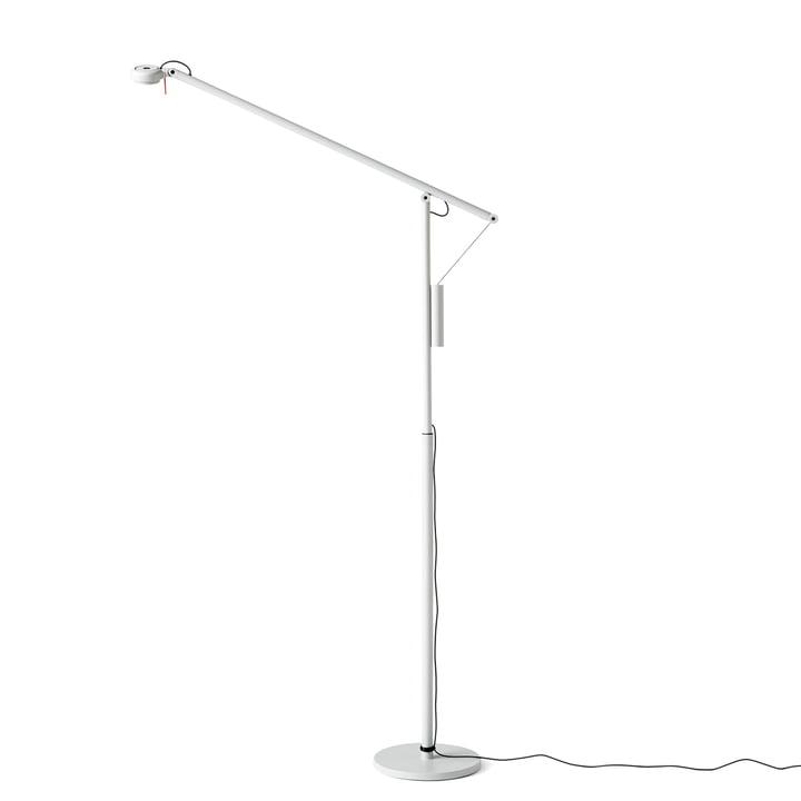 Lampadaire LED Fifty-Fifty par Hay en gris clair (RAL 7035)