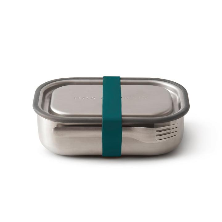 La lunch Box en acier inoxydable de Black + Blum en bleu océan