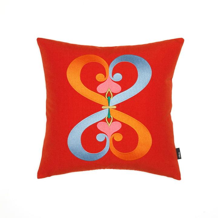 Le coussin Embroidered Double Cœur de Vitra - Coussin Embroidered, 40x40cm en rouge