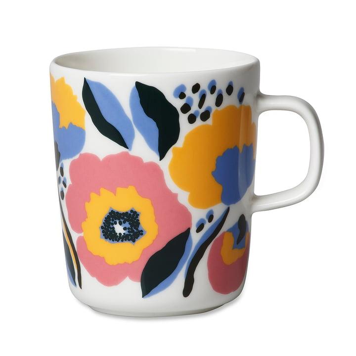 La tasse Oiva Rosarium de Marimekko, 250 ml en blanc / rouge / jaune / bleu