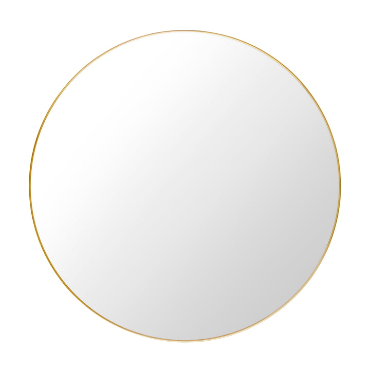 Gubi - Miroir Ø 110 cm, laiton