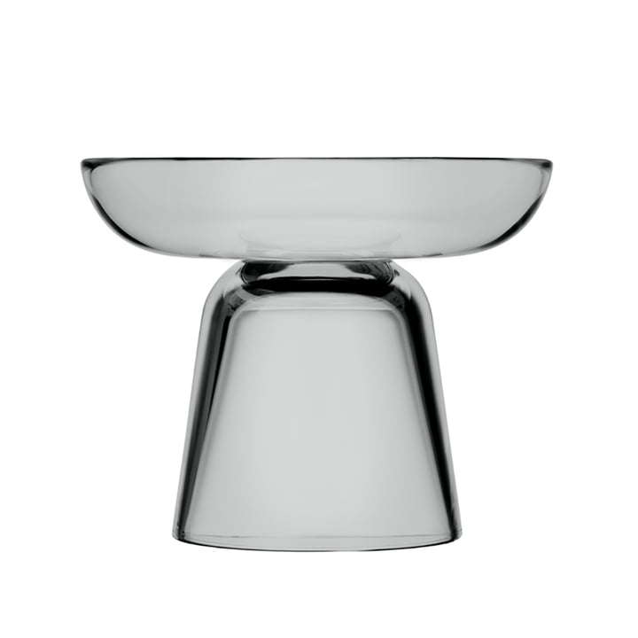 Iittala - Porte-bougie en verre nappa 107 mm, gris
