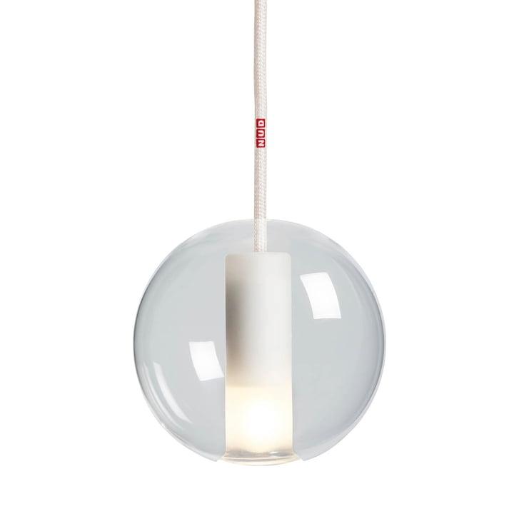 Moon Lampe à suspension 125 de NUD Collection en clair / Crème fouettée (TT-01A)
