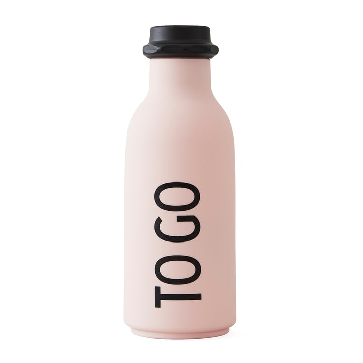 Design Letters - Bouteille d'eau To Go en pink