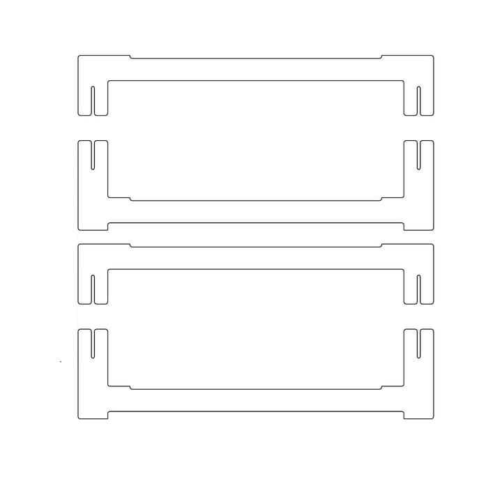 Plattenbau, blanc - traverse d'extrémité 40cm (2 en haut, 2 en bas)