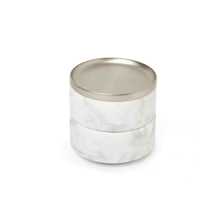 Tesora Stockage de Umbra en nickel / marbre blanc