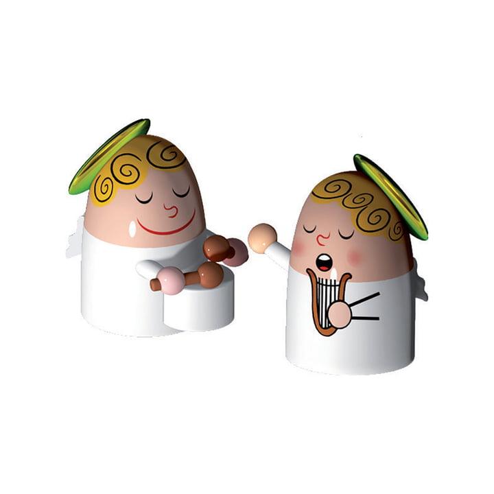 Alessi - Jeu de 2 figurines de la Nativité, Angels Band No.3