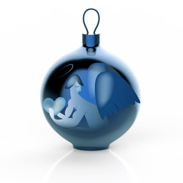 Alessi - Boule de Noël Blue Christmas, ange