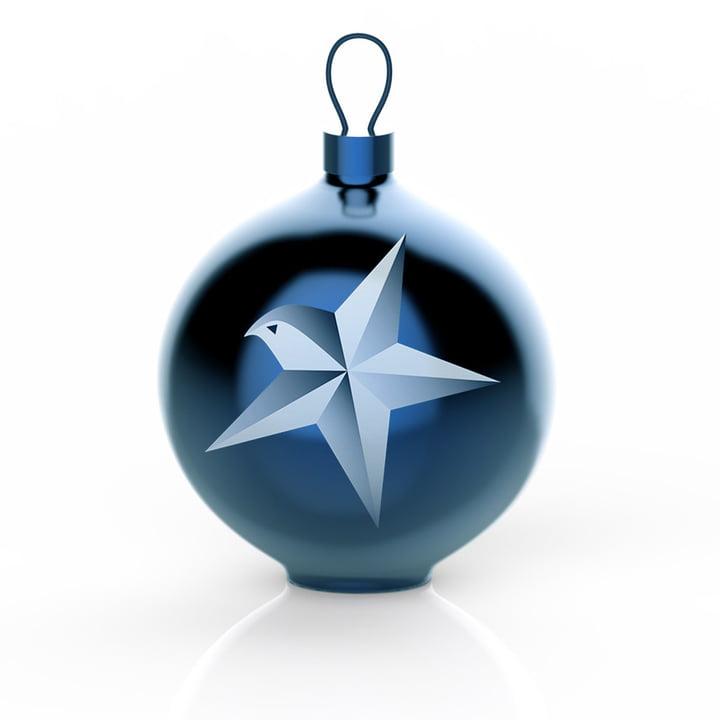 Alessi - Boule de Noël Blue Christmas, étoile