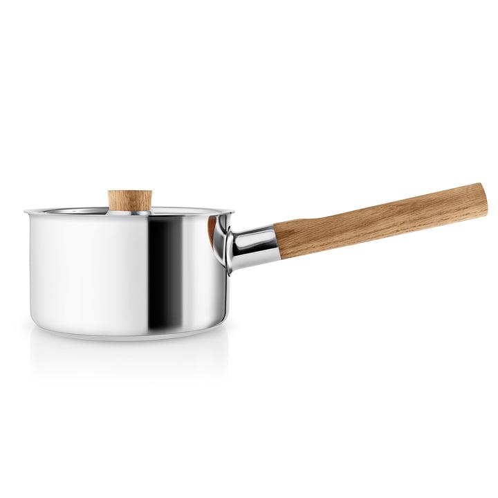Casserole de cuisine nordique 1. 5 l d'Eva Solo en acier inoxydable / chêne