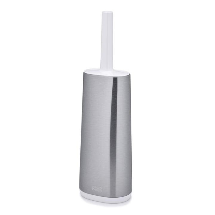 Joseph Joseph - Flex Steel Brosse pour toilettes, acier inoxydable / blanc