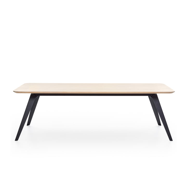 Table de repas pliante 200 × 95 cm, chêne / noir par Puik