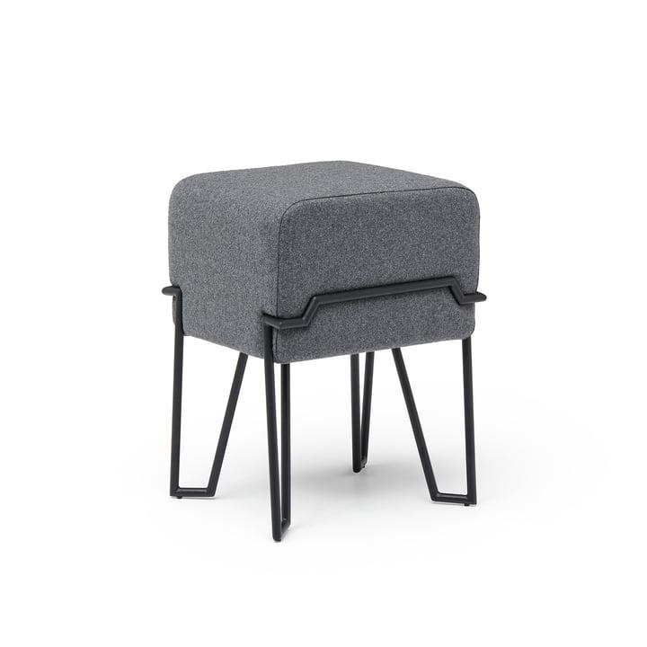 Bokk Tabouret H 52 cm, noir / gris de Puik
