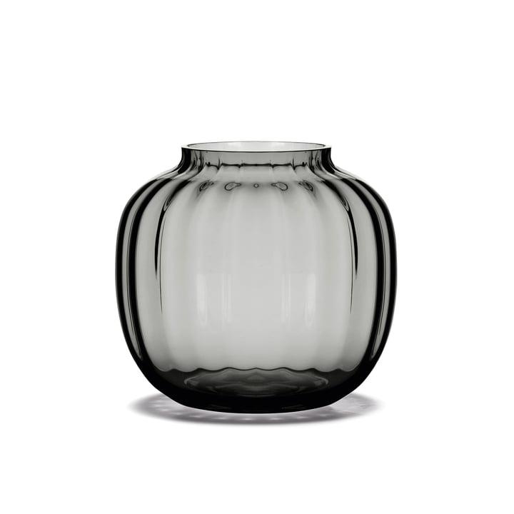 Le vase Primula H 12,5 cm en fumée de Holmegaard