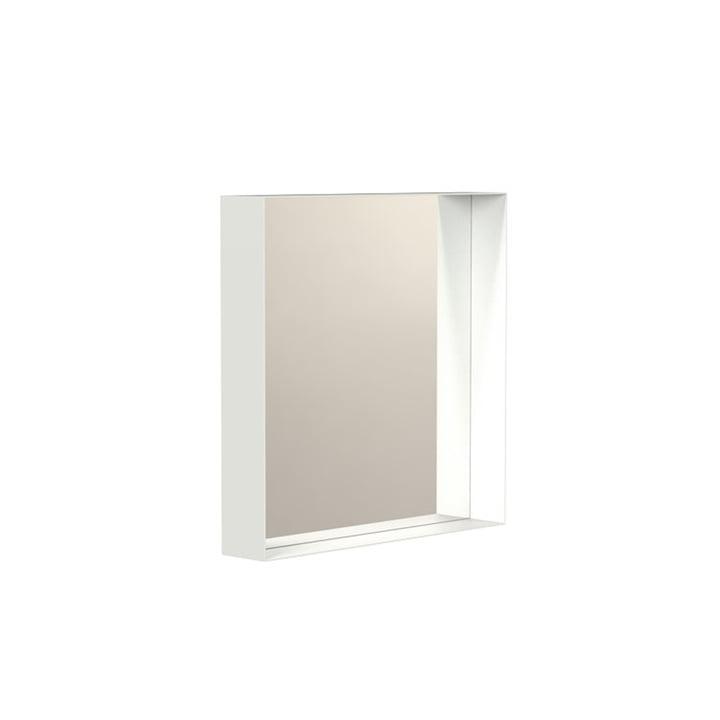 Unu Miroir mural 4132 avec cadre, 40 x 40 cm, blanc de Frost