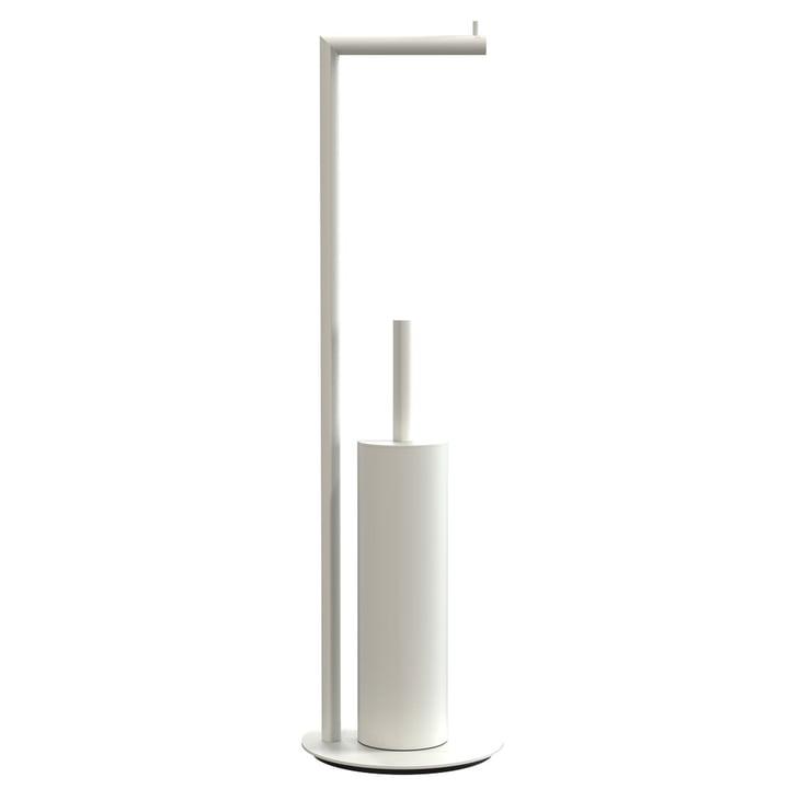 Nova 2 porte-rouleau de papier toilette et brosse de toilette sur pied en blanc par Frost