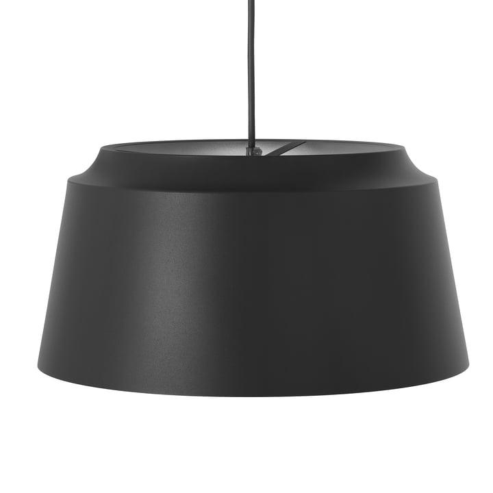 Suspension à rainures de Puik, Ø 40 x H 20 cm en noir
