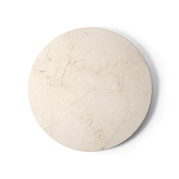 Plateau pour table d'appoint Androgyne Ø 42 cm de Menu en marbre ivoire