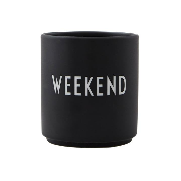 Tasse en porcelaine AJ Favourite Weekend par Design Letters