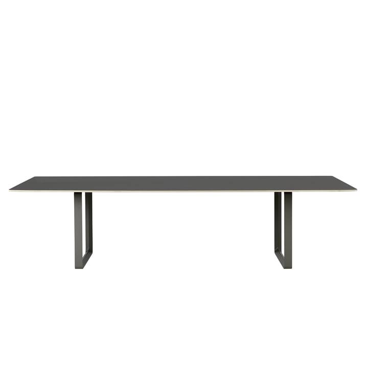 70/70 table à manger 295 x 108 cm de Muuto en noir (linoléum)