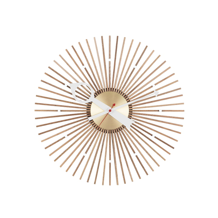 Horloge Popsicle par Vitra en noyer