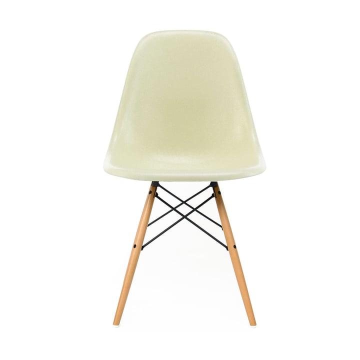 Eames Fiberglass Side Chair DSW by Vitra - Érable jaunâtre / Parchemin Eames