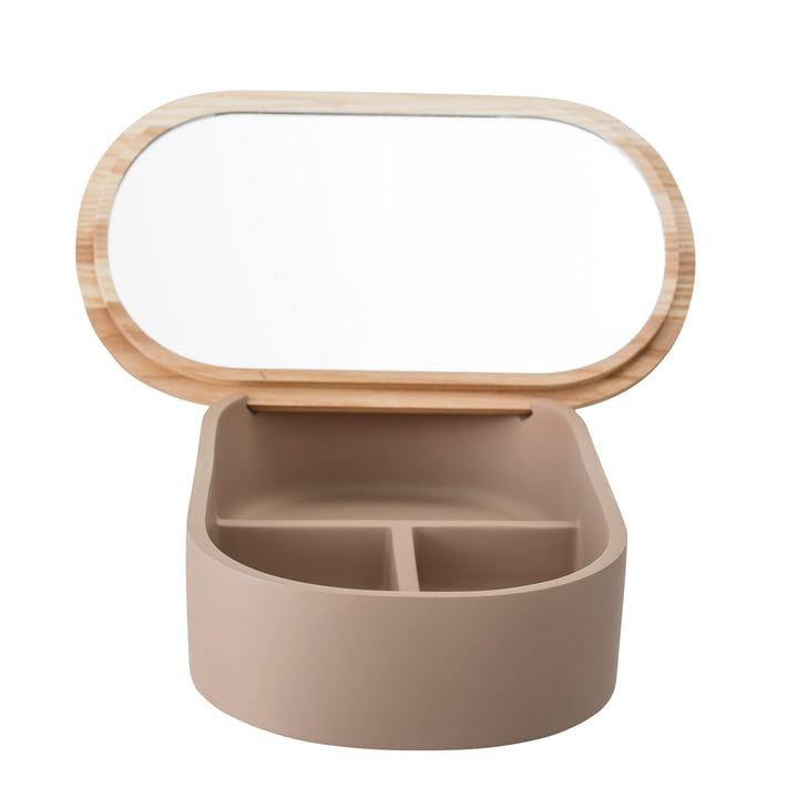 Boîte de rangement avec miroir 23 x 1 3. 5 cm de Bloomingville en marron