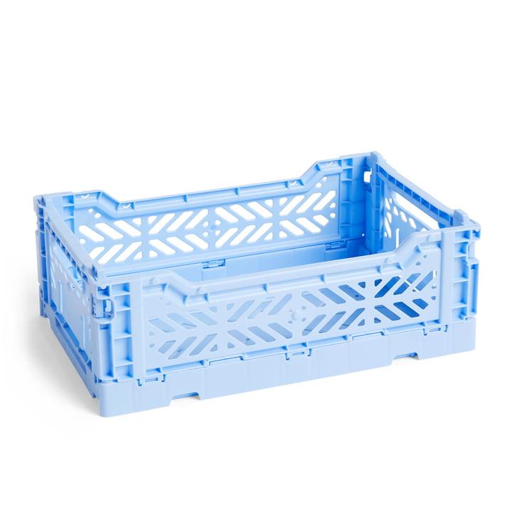 Couleur Panier à caisses S, 26,5 x 17 cm par Foin en bleu clair